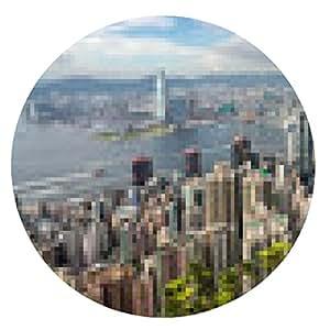 alfombrilla de ratón horizonte de Hong Kong desde el pico - ronda - 20cm