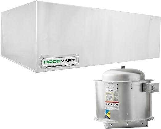 Amazon Com Hoodmart Restaurant Exhaust Hood System 4 Foot X 48 Inch Appliances