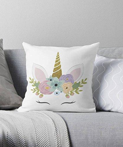 Unicorn Decorative Cushion, Unicorn Cushion, Unicorn Pillow, Unicorn, Unicorn Gift, Unicorn Nursery, Cushion, Girl Gift, Nursery Decor Pillow cover