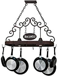 Meyda Tiffany Bon Appetit 2 Light Pot Rack 34 Length