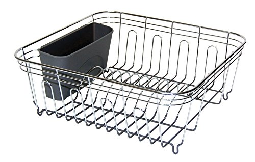 - REAL HOME Innovations Chrome & Gray Small Deluxe Chrome Dish Rack,