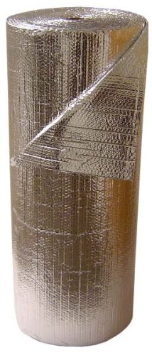 3/16'' Insulated Metalized Mylar Double Foil Bubble Wrap, 48'' X 125' Per Roll by Cutting Edge