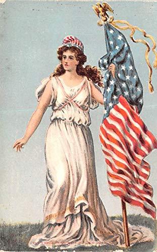 Flag Vintage Patriotic Postcard - Patriotic Post Card Old Vintage Antique Postcard Flag Unused