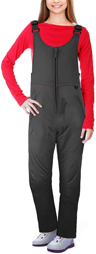 Ohuhu Women's Essential Insulated Snow Bibs Overalls, Ladies Ski Bibs Pants