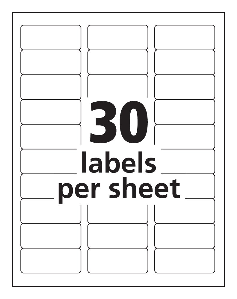 Amazon.com : Avery High-Visibility Laser Printable Labels (5980 ...