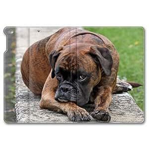 ipad mini2 leather case,Coffee colored dogs Custom design high-grade leather, leather feel will never fade