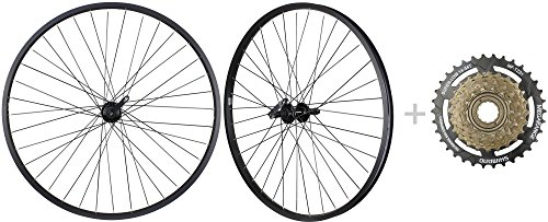 "Bike Bicycle MTB Wheelset 26"" 7 Speed with Shimano MF TZ31 14 34T Freewheel"