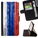 FJCases Russia Russian Wood Pattern Flag Slim Wallet Card Holder Flip Leather Case Cover for Microsoft Lumia 540 Dual Sim