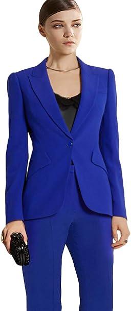 Amazon.com: WZW Traje de mujer formal oficina de negocios 2 ...
