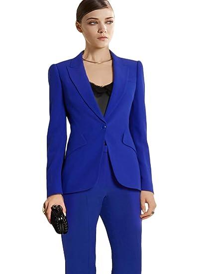 Amazon.com: WZW Pants Suit Ladies Formal Business Office 2 ...