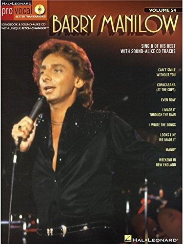 Barry Manilow: Pro Vocal Men's Edition Volume 54. Partitions, CD pour Voix