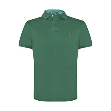 POLO RALPH LAUREN LARGE CLASSIC FIT ORANGE GREEN POLO SHIRT NWT NEW