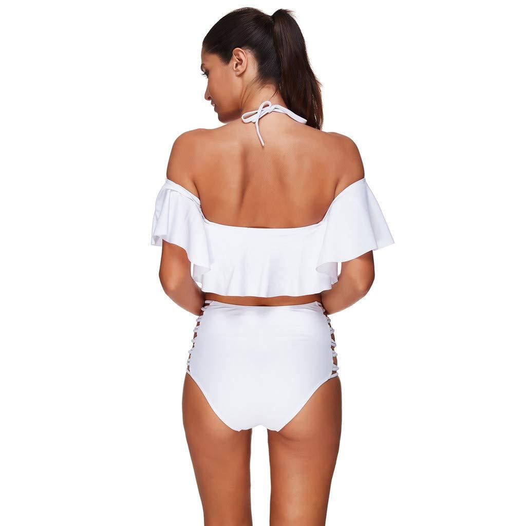 Traje de Baño Mujer 2019, Monokini Push Up Bikini Conjunto Bañador de Cintura Alta, Tankini Ropa de Baño para Playa Deportivo Bañador Bikini Traje de baño: ...