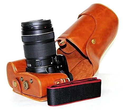 Funda de piel Para Cámara Canon EOS 60d 70d (18 – 135 mm lente ...
