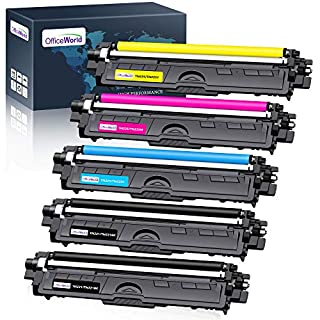 OfficeWorld Compatible Toner Cartridge Replacement for Brother TN221 TN225 TN-221 TN-225 Work with Brother MFC-9130CW HL-3170CDW HL-3140CW MFC-9330CDW Printer (2 Black, 1 Cyan, 1 Magenta, 1 Yellow)