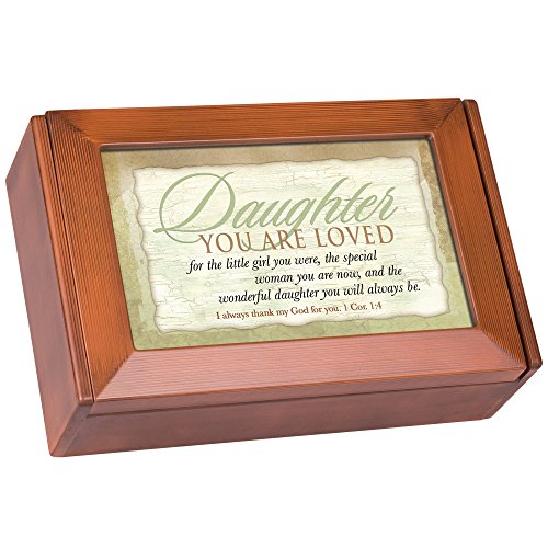 Daughter You Are Loved Always Woodgrain Petite Keepsake Music Box Plays I Can Only Imagine
