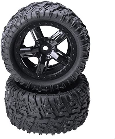 Quickbuying REMO 1//16 P6973 Rubber Tires Assembly for Desert Buggy Truck