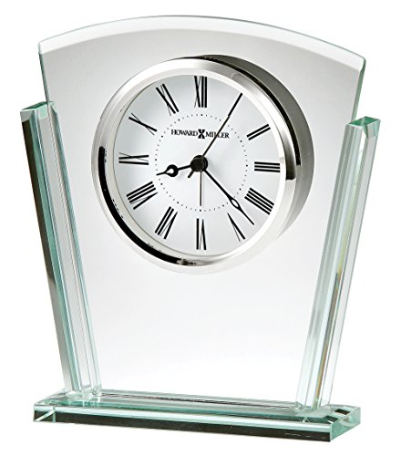 Silver Tone Desk Clock (Howard Miller 645781 645-781 Granby Table Clock)