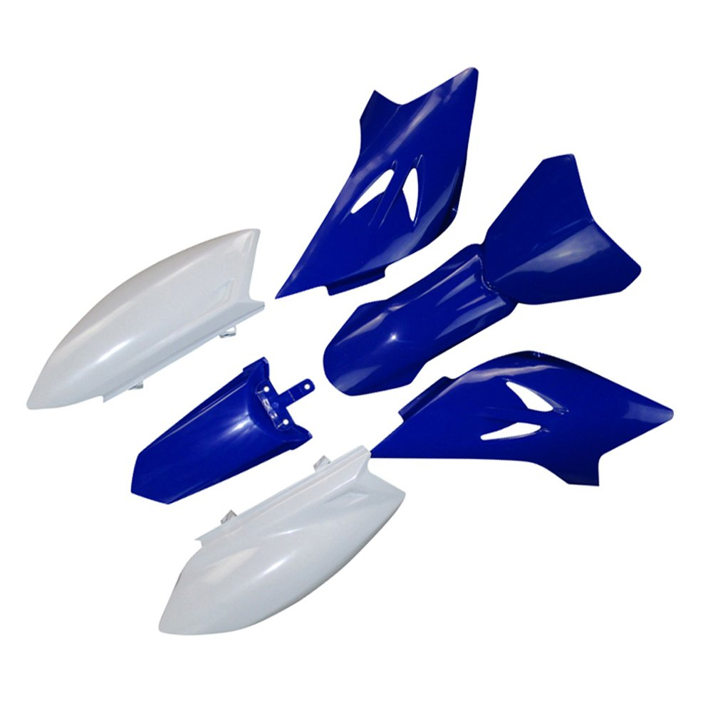 TC-Motor Aftermarket Replacement Blue White Plastic Fairing Body Parts Fender Kits Replace For Pit Dirt Bike TTR50 TTR50E 2006-2016 by TC-Motor