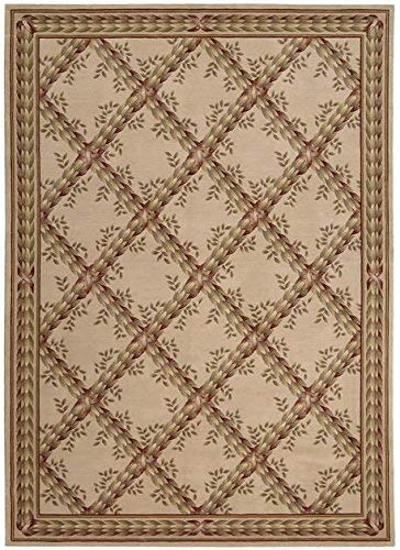 Nourison Ashton House (AS09) Beige Rectangle Area Rug, 5-Feet 6-Inches by 7-Feet 5-Inches (5'6