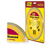 IVY Classic 37062 Premium 4-1/2-Inch Dry and Wet Tile Cutting Continuous Rim Diamond Blade with 7/8-5/8-Inch Arbor, 1/Card