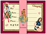 Dolce Mia Cowgirl Invitations - Pack of 10 Fill-in Cards