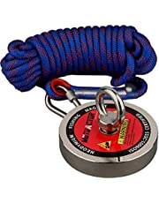 Mutuactor 1300LBS Magnetic Pull Force Neodymium Recovery Salvage Fishing Magnet with 10m Rope