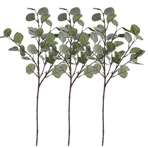 Outgeek 3 Pcs Artificial Eucalyptus Garland Silver ()