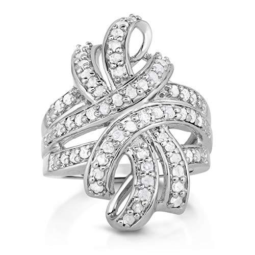 NATALIA DRAKE 1cttw White Diamond Bow Fashion Ring ()