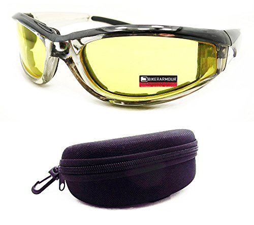Chrome Motorcycle Transition Sunglasses UV Sensitive Day Night Goggles - Riding Glasses Photochromic Motorcycle
