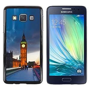 Be Good Phone Accessory // Dura Cáscara cubierta Protectora Caso Carcasa Funda de Protección para Samsung Galaxy A3 SM-A300 // The Big Ben London