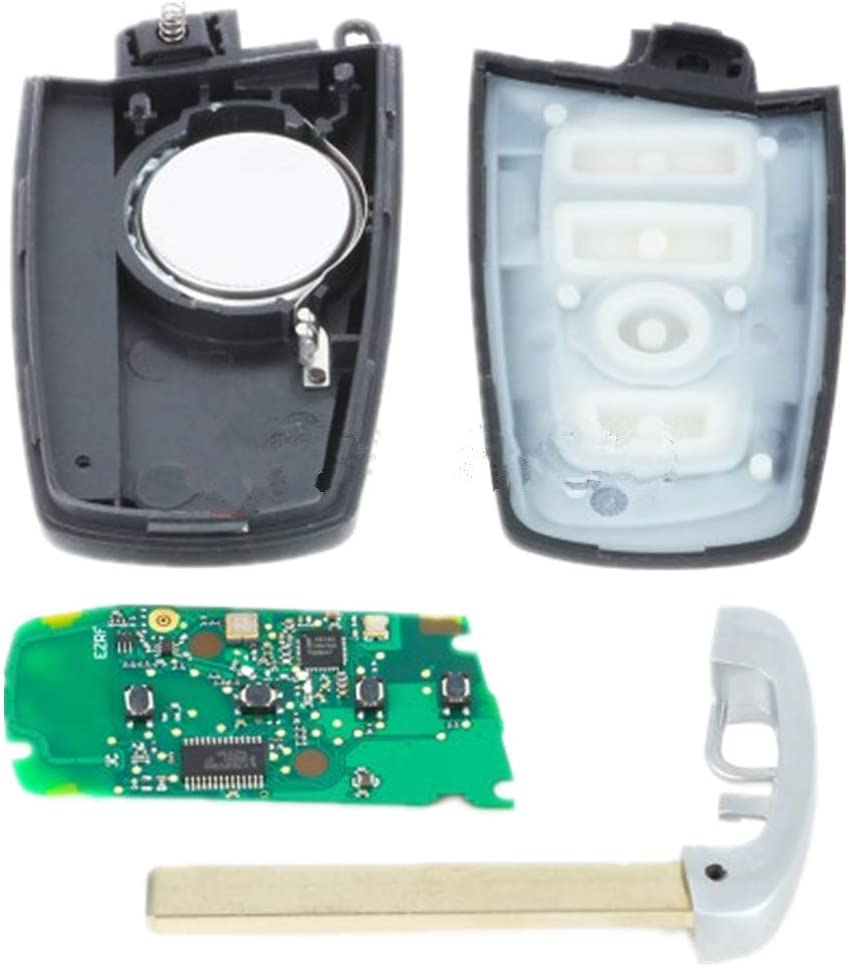 433MHz Keymall keyless entry remote car key fob 4 Button replacement PCF7953 49 Chip for BMW F Series FEM BDC CAS4 CAS4