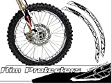 Senge Graphics Fly Racing White rim protector set for one 18 inch rim and one 21 inch rim