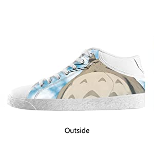 JIUDUIDODO Unisex My Neighbor Totoro Lace up Sneakers Canvas Shoes US6
