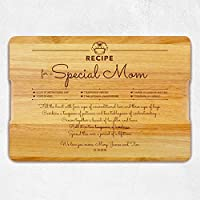 Custom Gift for Mothers, Personalized Cutting Board - Engraved Love Recipe for Mommy