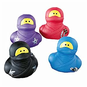 Fun Express Ninja Rubber Ducks - 12 Pieces
