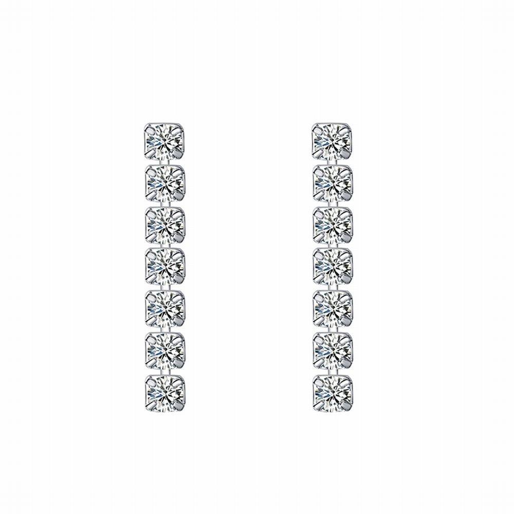 Ling Studs Earrings Hypoallergenic Cartilage Ear Piercing Zircon Earrings Simple Short Chain Stud Earrings