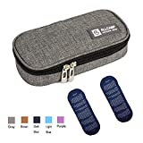 TAWA Insulin Cooler Travel Case Diabetic Medication Cooler with 2 Ice Pack and Insulation Liner (Gray)