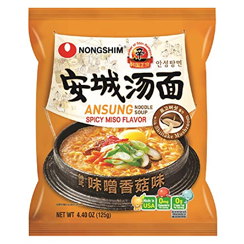 NongShim Noodle Soup, Ansung Tang Myun, 4.4 Ounce (Pack of 10) ()