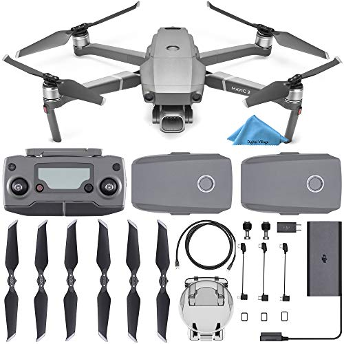 DJI Mavic 2 Pro Drone Quadcopter with Remote Controller, 2 Batteries, with 1-Year Warranty – Gray