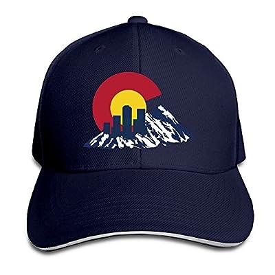 Flag Of Colorado Rocky And Skyline Adjustable Trucker Caps Unisex Sandwich Hats