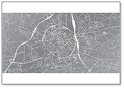 Amazon Com Urban City Map Of Leuven Belgium Fridge Magnet