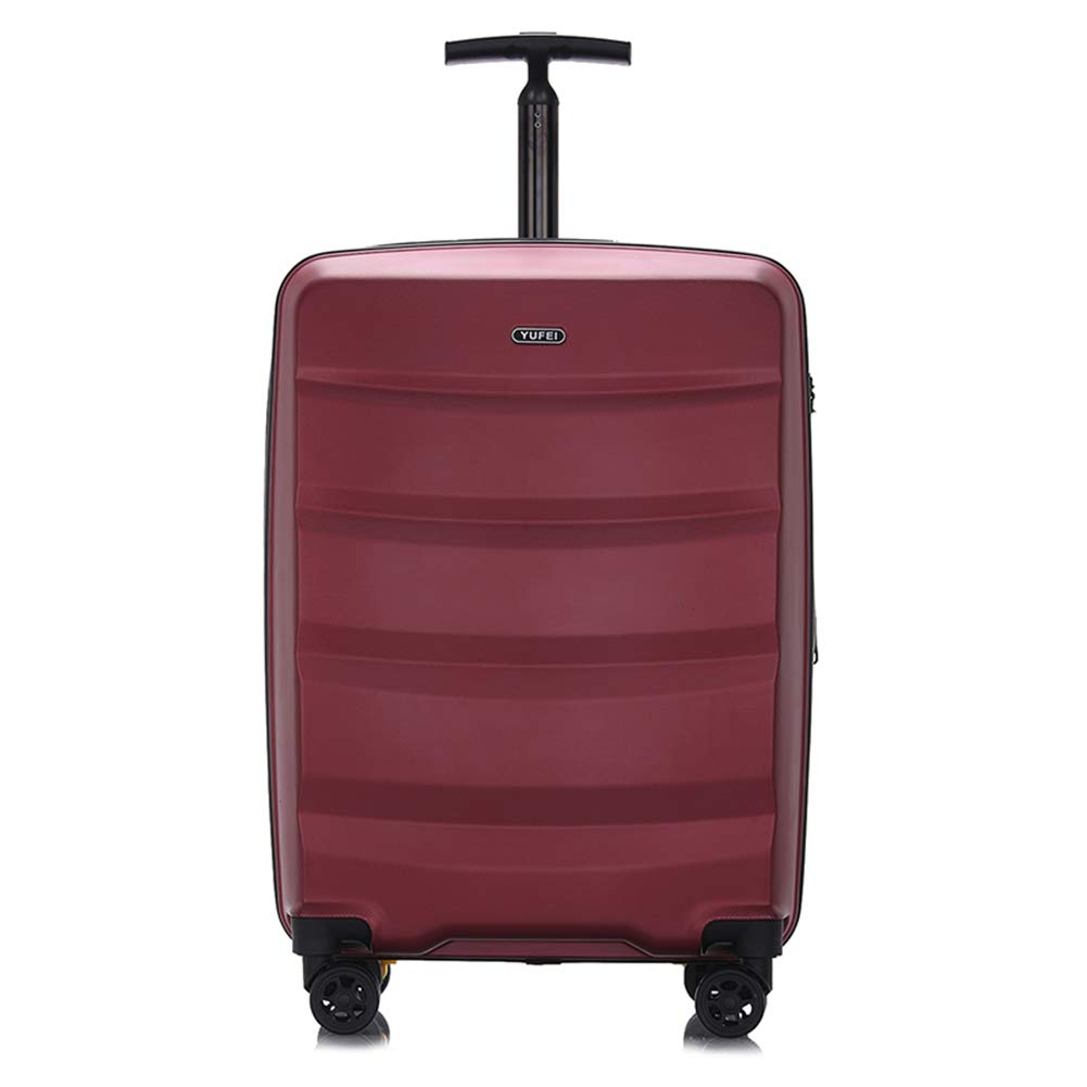 極度の軽量のABS堅い貝の拡張可能な旅行はTSAで造られた4つの車輪が付いている小屋手の荷物のスーツケースで、3桁の組合せロック、ラップトップコンパートメントトロリー袋を続けていきます。 20IN Red B07MNLS3NN