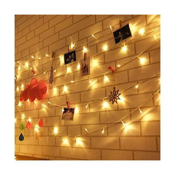 Uping Catena Luminosa Stringa di Luci 300 LED, per Festa Giardino Natale Halloween Matrimonio(Bianca Calda) 5 spesavip