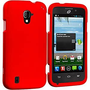 Accessory Planet(TM) Orange Hard Snap-On Matte Rubberized Case Cover Accessory for ZTE Majesty Z796C by lolosakes
