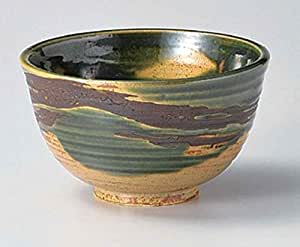 Oribe Brown 5.5inch Set of 10 Large-Rice-Bowls Green porcelain Made in Japan
