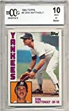 #10: 1984 topps #8 DON MATTINGLY new york yankees rookie (50-50 CENTERED) BGS BCCG 10 Graded Card