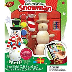 MasterPieces Works of Ahhh Winter Snowman Large Wood Paint Kit