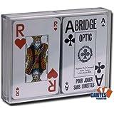 Coffret 2 jeux de 52 cartes Bridge optic bleu et rouge Index : 2/jumbo .
