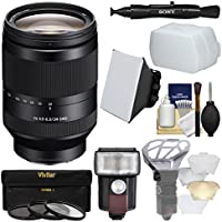 Sony Alpha E-Mount FE 24-240mm f/3.5-6.3 OSS Zoom Lens with Flash + Soft Box + Diffuser + 3 Filters + Kit for A7, A7R, A7S Mark II Cameras